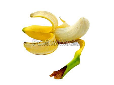 geschaelte banane