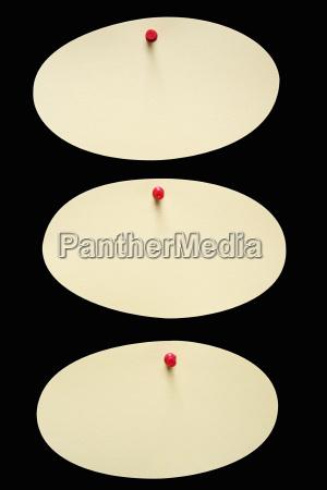 drei ovale notizen