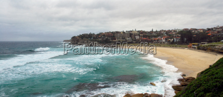 bronte beach on a stormy day