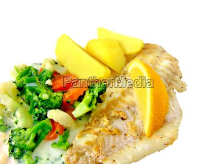 rotbarsch mit gemuese und kartoffeln