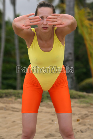 woman sport sports warm up training