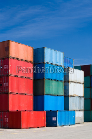 cargo containers at terminal