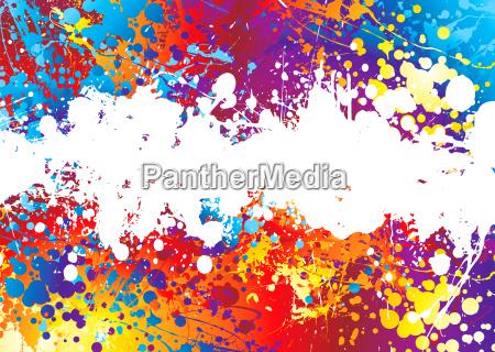 tinte splat regenbogen weiss