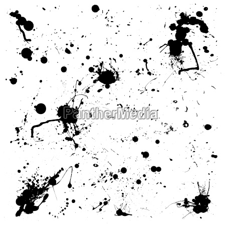 grunge black splat ink