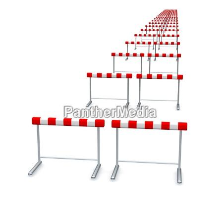 hurdles in row