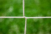 closeup of a soccer goal net