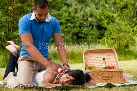 a massage for her