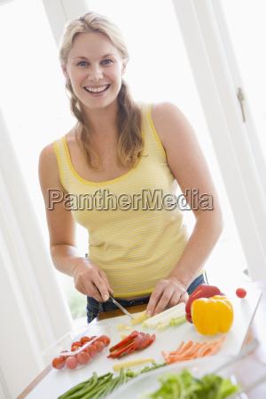 woman preparing mealmealtime