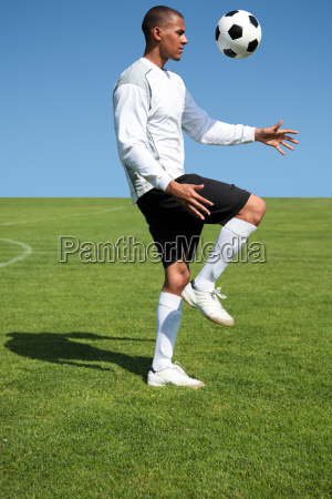 soccer player training