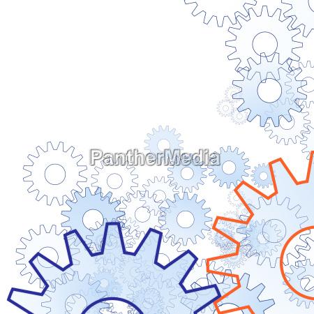 zahnräder-hintergrund-textfreiraum-weiß - 2712098