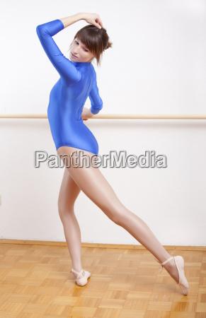 ballet dancer working out