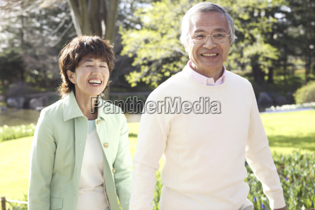 japanes senior couple