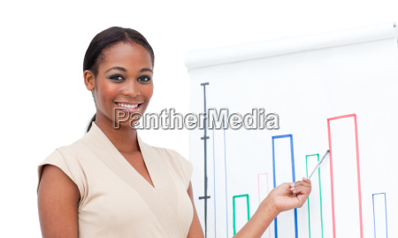 charming female executive doing a presentation