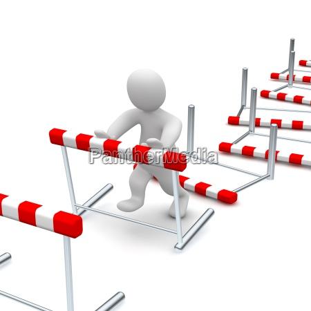 knocking down hurdles
