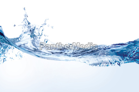 water, splash, isoliert, auf, weiß - 3940755