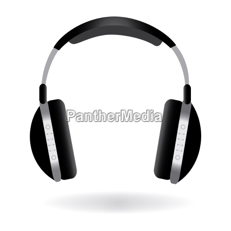image of headphones isolated on a