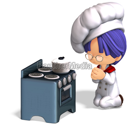 cute and funny cartoon cook