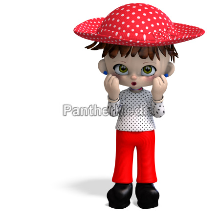 cute and funny cartoon doll with