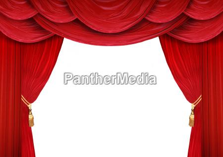 vorhang eines theaters