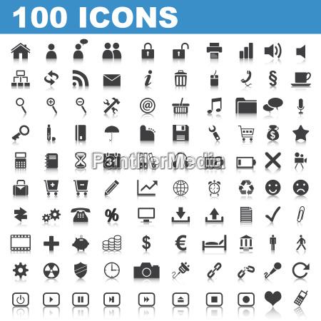 100, web, buttons - 4589588