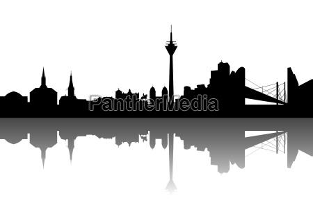 duesseldorf silhouette abstrakt