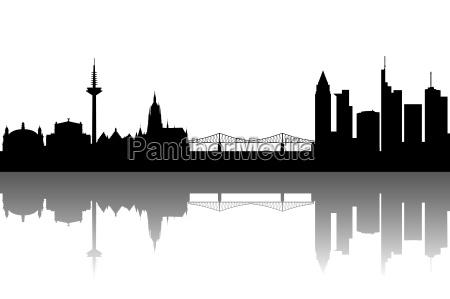 frankfurt silhouette abstrakt