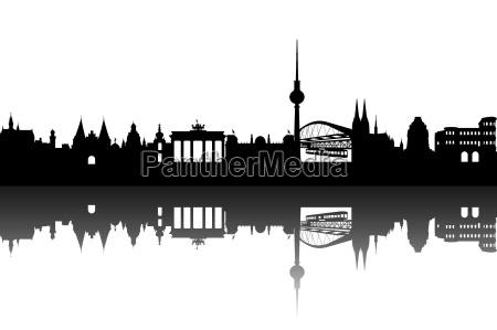 deutschlan skyline abstrakt