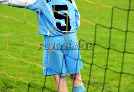 fussball spieler am tor soccer