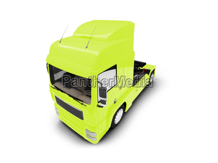 bigtruck isolated yellow front view