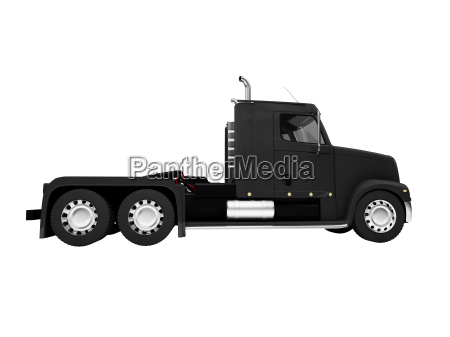 bigtruck isolated front side view