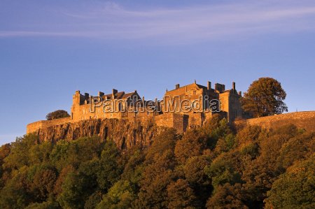 stirling castle in an autumn sunset