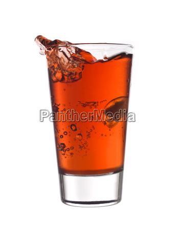 splash in a glass of red