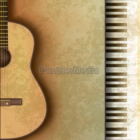 abstract grunge background with guitar and