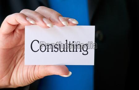 consulting visitenkarte