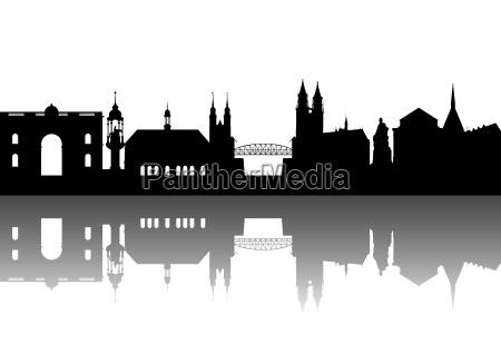 magdeburg silhouette abstrakt