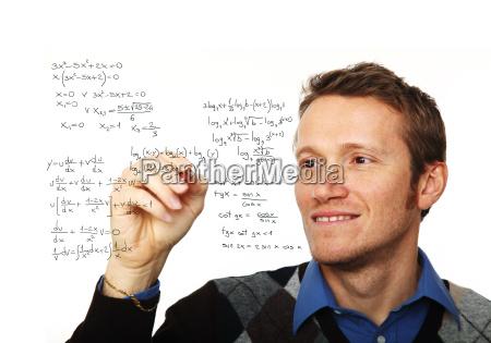 man write maths formula
