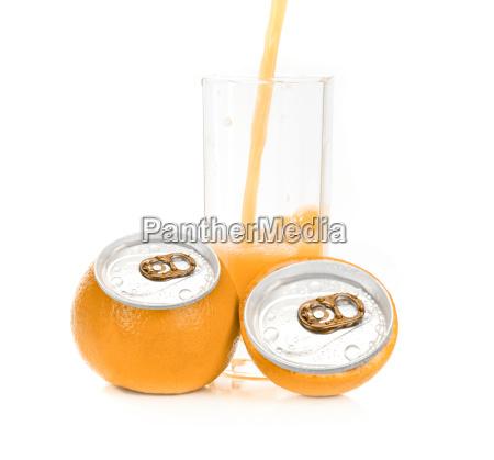 orange juice aluminum can