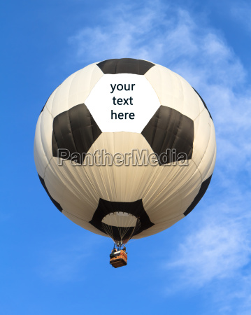 hot air balloon in shape of
