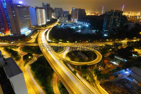freeway in night