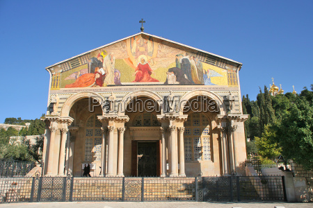 church of all nations facade in