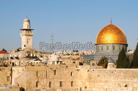 berühmte, dome, auf, dem, felsen-moschee, und - 5787395