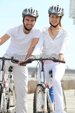 friends having a bike ride