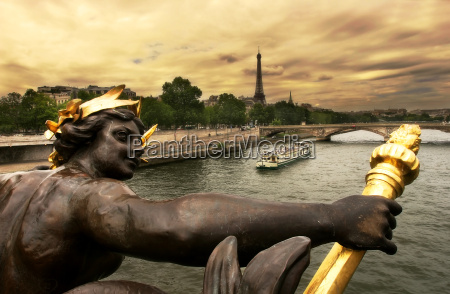 view on seine river and eiffel