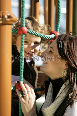 mother and daughter at the playground