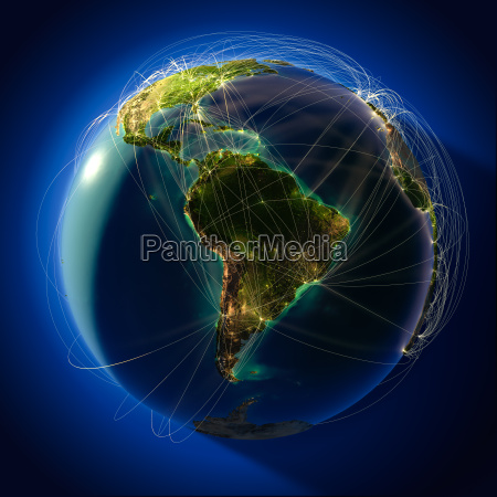 major global aviation routes on the