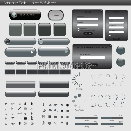 gray web template