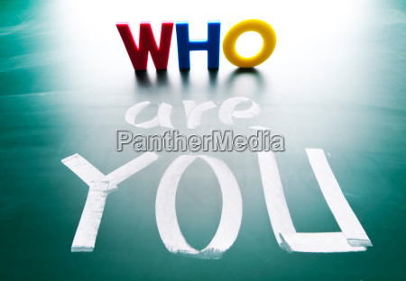who are you concept words on