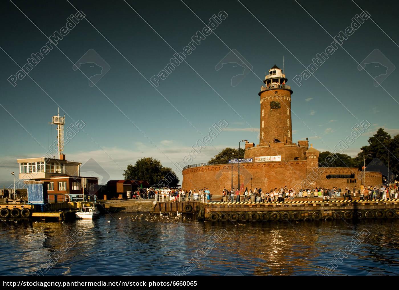 leuchtturm, in, kolobrzeg - 6660065