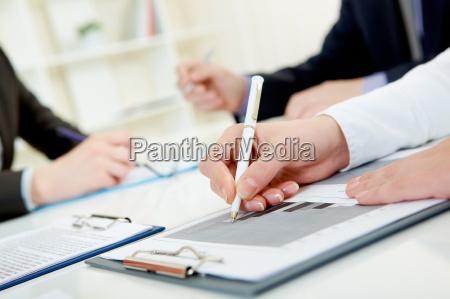 during paperwork
