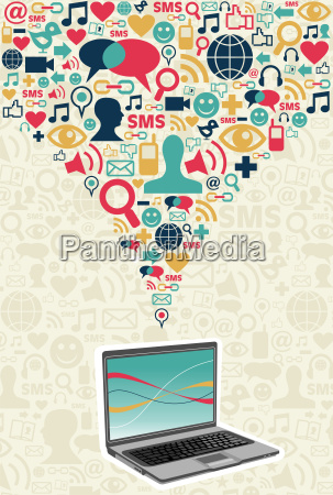 social media computer connection